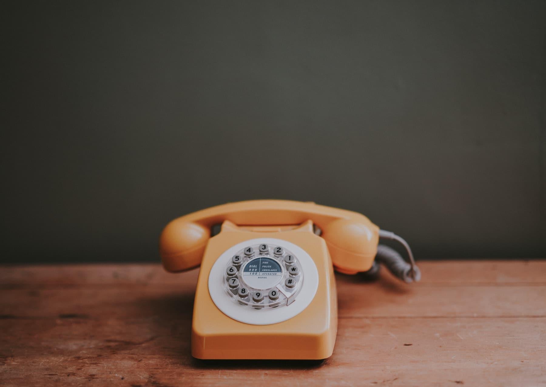 telefono de ruleta antiguo