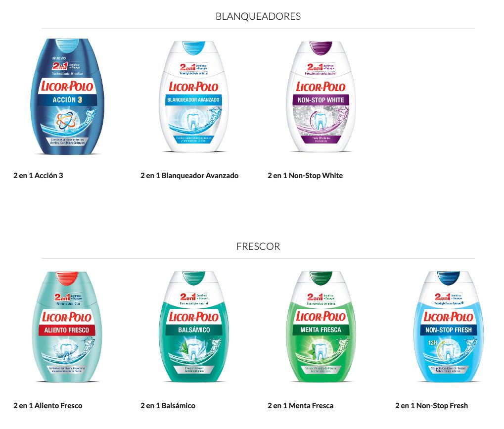 Variedades de Licor del Polo